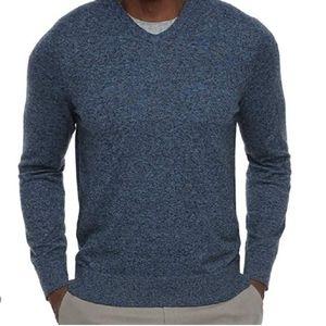 Croft & Barrow Blue V-Neck Sweater-sz.Medium